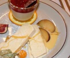 Eierlikör-Parfait mit Früchten