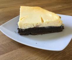 Brownie Ceesekake Schokoladen Käsekuchen