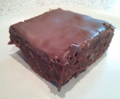 Walnuss Brownies mit Kuvertüre
