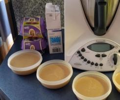 Pudding mit Löffeleier ohne extra Zucker Mega lecker