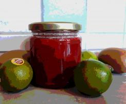 Marmelade Erdbeer-Kiwi-Limette