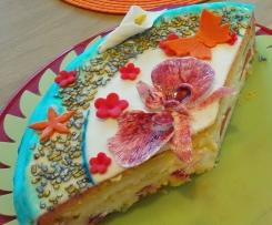 Zitronen-Quark-Sahne-Creme für Tortenfüllungen oder als Dessert