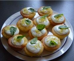 Getränkte Zitronen Cupcakes