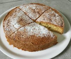 Versunkener Traubenkuchen
