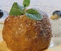 Gebackene Apfel-Knödel mit Cranberry-Gewürz-Ragout