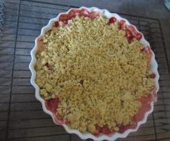 Erdbeer- Rhabarber- Crumble