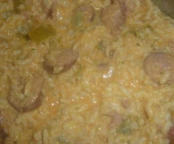 Schmorgurken mit Reis