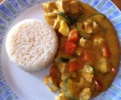 Curryhähnchen mit Reis (auch WW) 11 PP