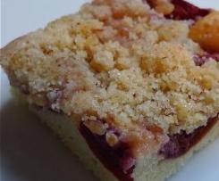 Schneller Obstkuchen mit Mandelstreusel