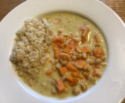 Süßkartoffel-Curry mit Kichererbsen