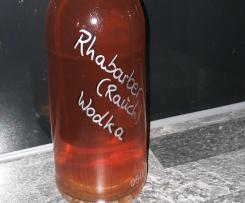 Rhabarber Schnaps mit Wodka