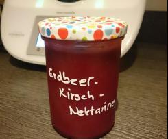 Erdbeer-Kirsch-Nektarinen Marmelade
