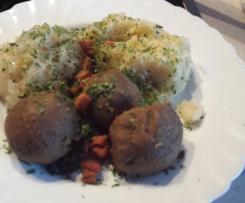 Leberknödel Sauerkraut Kartoffelpüree