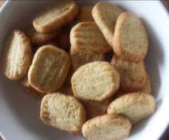 Herzhafte Rosmrin-Kekse