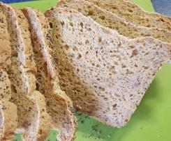Glutenfreies Brot mit Ballaststoffen