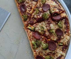 Dinkel-Vollkorn Pizza-Teig