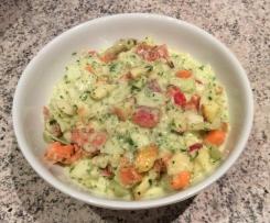 Tutti-Frutti-Weißkohl Salat mit Knoblauch-Kräuter-Sauce