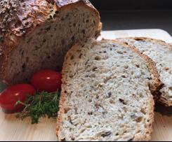 Dinkel-Saaten-Brot (über Nacht)