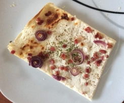 Leckerer Flammkuchen (low fat)