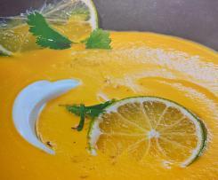 Möhrensuppe mit Limetten