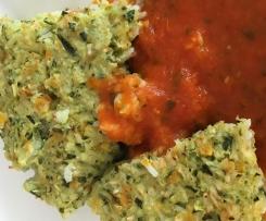 Reistorte mit Tomaten-Basilikum Soße (WW)