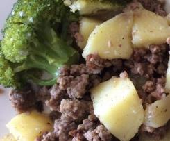Hack mit Kartoffeln und Rahmbrokkoli