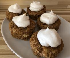 Möhren-Cupcake mit Frischkäsefüllung
