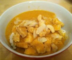 Variation von Chicken Korma