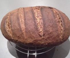 veganes Lein-Dinkel-Roggen-Brot