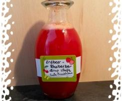 Erdbeer - Rhabarber - Sirup / Saft
