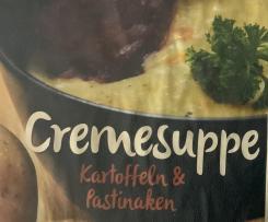 Cremesuppe aus Kartoffeln und Pastinacke mit Wildschinken