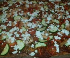 Low Carb Pizza mit Blumenkohl-Boden