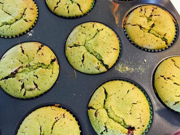 Matcha Muffins Mit Schokoladenstuckchen Fructose Lactose Und