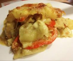 indische Hähnchen-Curry-Lasagne