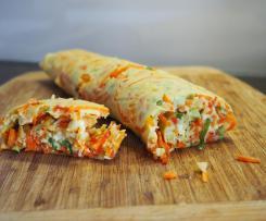 Ofenpfannkuchen mit Gemüse und Schafskäse