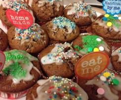 Bunte Schoko-Kirsch Muffins