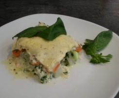 Karotten-Kohlrabi-Lasagne