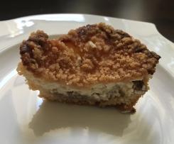 Apfel-Käsekuchen Muffins mit Crumble