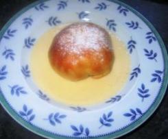 Apfelnudeln mit Vanillesoße