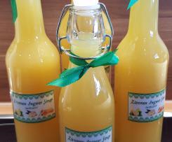 Ingwer Zitronen Honig Sirup (mit Erhalt von Vitaminen), gut bei Erkältung oder zur Vorbeugung!