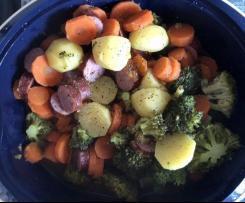 Kartoffel-Gemüse-Eintopf mit Mettenden