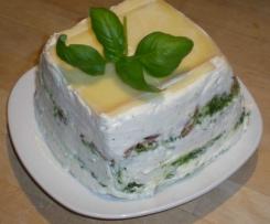 Basilikum-Torte / Mascarpone-Basilikum-Schichttorte