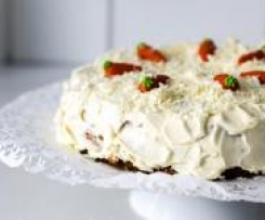 Variation von Carrot cake mit Vanilla Frosting - Karottentorte
