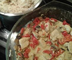Thai-Kokos-Hähnchen mit Reis (Variation aus Mix ohne Fix)
