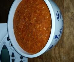 Vegetarische Bolognese mit roten Linsen