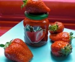 Variation von Erdbeermarmelade - traumhaft intensiver Erdbeergeschmack