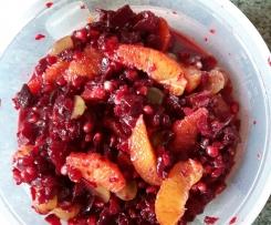 Rote Bete Granatapfel Orangensalat