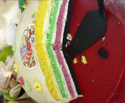 Regenbogen Torte Kindergeburtstag