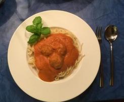 Albertos Spaghetti mit Meatballs