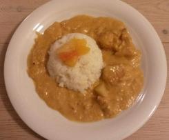 Mildes Hähnchen-Curry ~ milchfrei glutenfrei